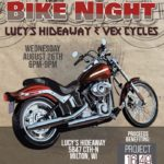 Lucy's Hideaway Bike Night poster